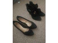 Black ladies heels size 6