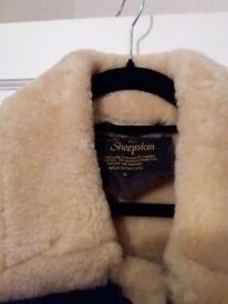 Genuine Sheepskin Flying Jacket Mens Small