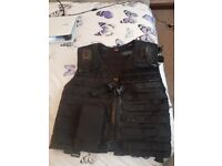Military/airsoft/paintball/security molle vest with pouches