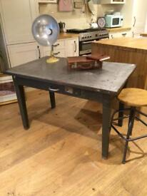 Metal industrial table