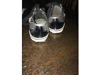 Guess - ladies black flat shoes - size 37