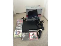 PS3 320gb slim console and games