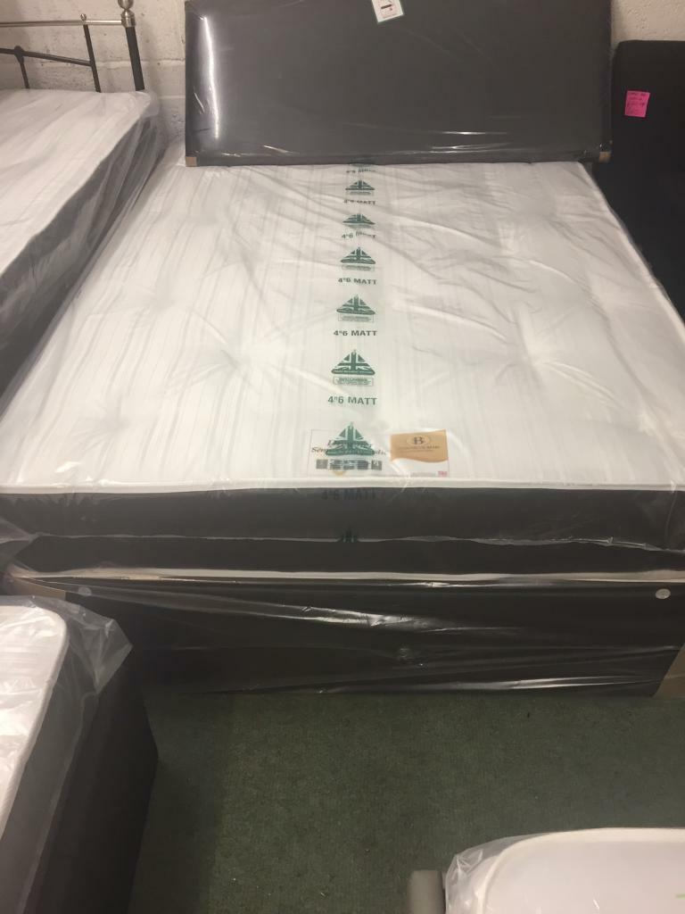 Double 4.6ft Divan Bed with Orthopaedic Mattress