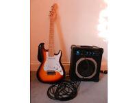 Elevation Electric Children's Guitar & Gunfleet Practice Amp
