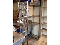 Kitchen metal wire shelving