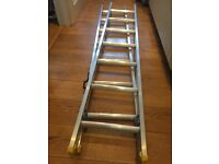 Domestic double extension ladder 2m to 3.39m silver