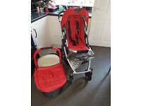 Uppa baby stroller, carrycot and accesories