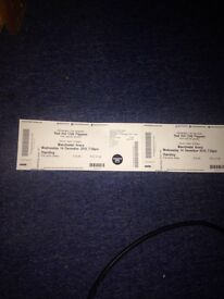 Red chili peppers tickets x2 Manchester 14/12/2016