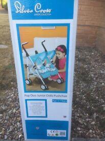 Silver Cross dolls twin stroller