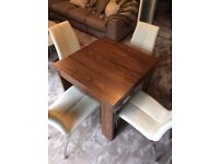 Next Walnut Extending Dining Table 4 Opus Chairs
