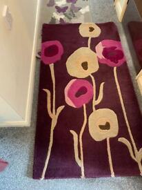 (2)wool rugs 180cm x 60cm