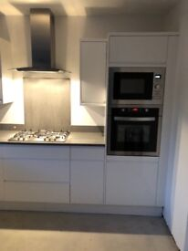 Brand new integrated micro grill and also complete oven set,