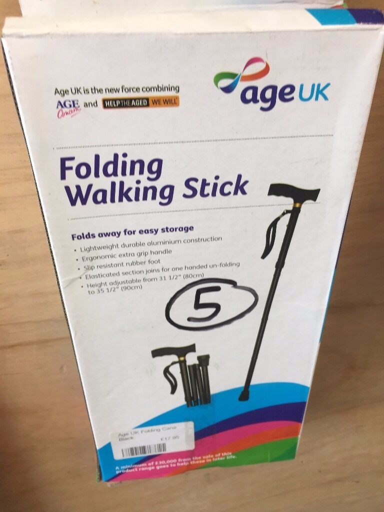 Folding Walking Stick very handy! only £5.00 each. rrp £20.00