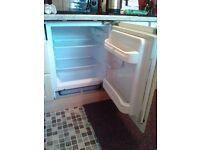 Integrated fridge.