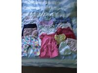 Baby girls 0-3 months clothes