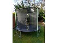 8ft Plum Trampoline and Enclosure
