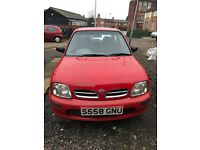 Nissan Micra Red 1.0 3dr Full Service History 86788 Miles Done Only 8 Months Mot Left
