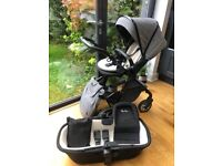 Silver Cross Pram & all accessories, Moses Basket and Kid's Rug