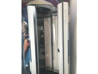 Ergoline lounge commercial stand up sunbed tan cab with changing cubicle excellent working condition