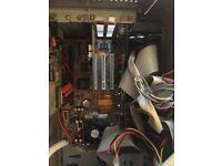 Tower PC inc motherboard, RAM, CPU, Power supply, CD burner, floppy drive, etc