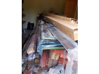 LARGE AND LOVELY HARDWOOD CONSERVATORY - NEVER ASSEMBLED