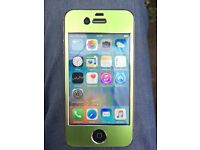SIMFREE iPhone 4s beautiful green color 16 GB