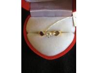 18 K Solid Gold Diamond Ring
