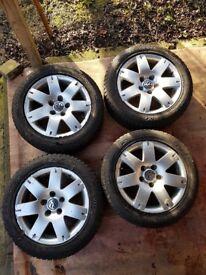 Alloy wheels for Volkswagen Passat with tyres 205 55 16