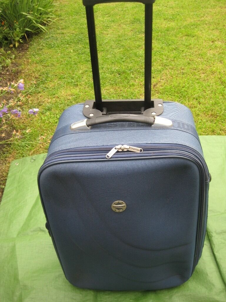 Medium Constellation Blue Fabric Expandable Suitcase with Telescopic Handle and Wheelsin Lewisham, LondonGumtree - Medium Constellation Blue Fabric Expandable Suitcase with Telescopic Handle and Wheels This suitcase is in very good condition, clean and ready to travel; it is 56 cm high by 39 cm wide by 20 to 23 cm deep when expanded all round; the inside of the...
