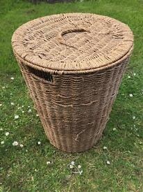 Basket and 2 firm pillows for sofa or bed