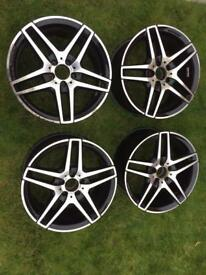 "Mercedes AMG E class night edition 18"" alloys"