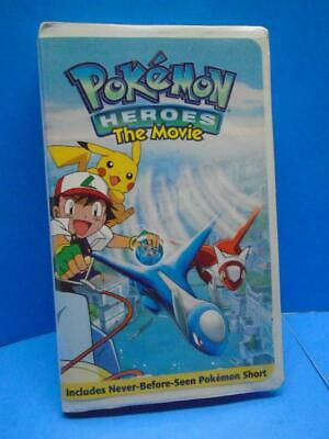 Pokemon - Heroes: The Movie (VHS, 2004) Animated Clamshell Case OOP Rare