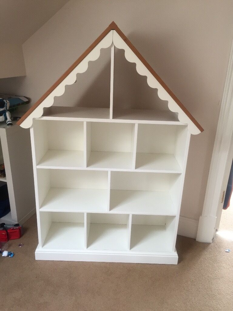 Childrens White House Display Bookshelf