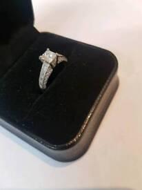 Platinum Diamond Engagement Ring - Size L 1/2