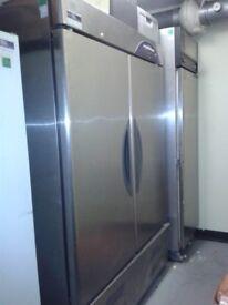 williams double door stainles steel comercial fridge freezer