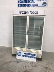 Framec Double Door Upright Display freezer frozen
