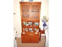 Living Room Wall Unit with glass doors and space for storage and display