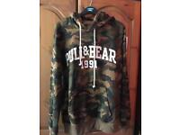 Camouflage Pull and Bear Hoodie size L