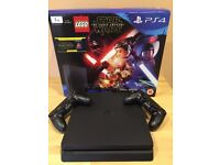 PS4 1TB slim console (in original box), 2 controllers, 5 games + The Force Awakens Blu-ray Disc