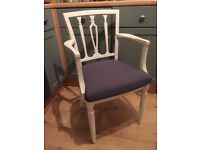 Stunning Georgian Chair painted in any colour & reupholstered in any fabric x 1