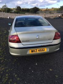 Peugeot 407 for sale. 12 months MOT, very clean family car, drives well
