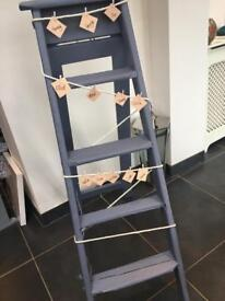 Lilac wooden wedding display ladder