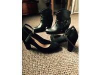 Black shoes/Black ankle boots