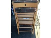 2 ikea fold up chairs