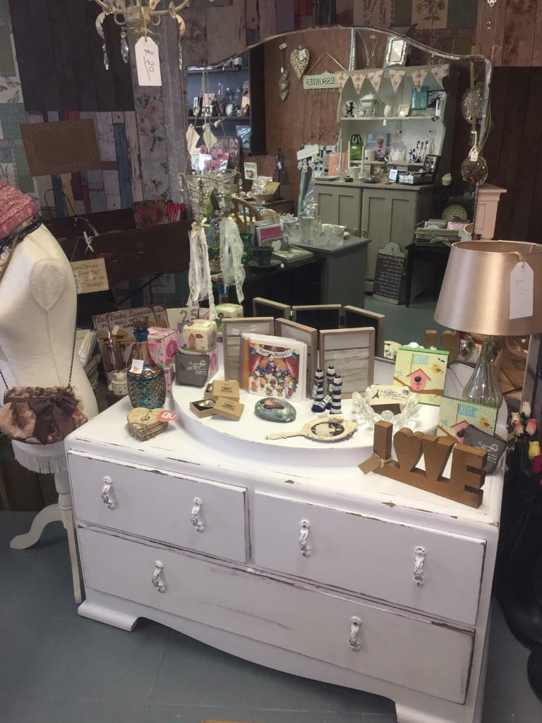 Gorgeous vintage shabby chic dressing table with mirrorin Sunderland, Tyne and WearGumtree - Beautiful piece of up cycled furniture. Drawers are a little stiff but very large and deep. Lots of storage space........FINAL REDUCTION only £50