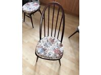 4 x Ercol Windsor Quaker High Back Dining Room Chairs