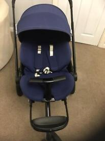 Quinny mood stroller with new born cocoon