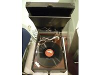 beautiful 78 speed his masters voice table top gramophone,perfect working condition , only £245.00..