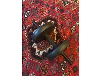 Adjustable free weights - barbell and dumbbell / up to 50kg / home gym/ basically new