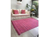 Pink/purple & orange 5x7 ft rug